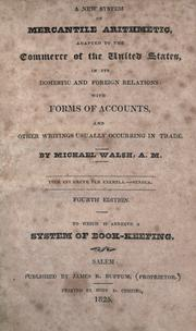 Cover of: A new system of mercantile arithmetic by Walsh, Michael