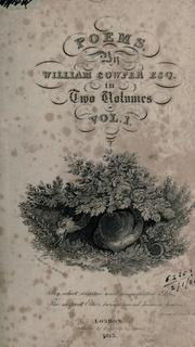 Cover of: Poems by Cowper, William