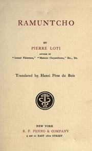 Cover of: Ramuntcho by Pierre Loti