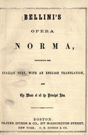 Cover of: Norma | Vincenzo Bellini