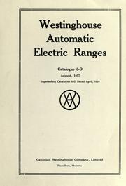 Cover of: Westinghouse automatic electric ranges by Westinghouse Canada.