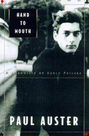 Cover of: Hand to Mouth by Paul Auster