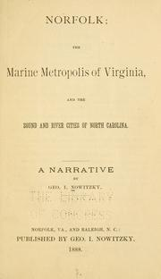 Cover of: Norfolk, the marine metropolis of Virginia by George I. Nowitzky