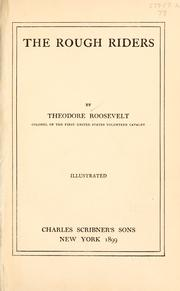 Cover of: The Rough Riders by Theodore Roosevelt