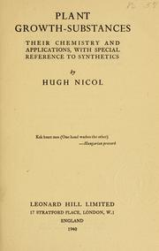Cover of: Plant growth-substances by Hugh Nicol