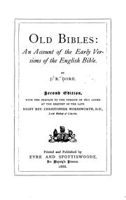 Cover of: Old Bibles by J. R. Dore