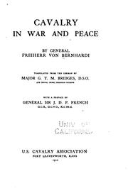 Cover of: Cavalry in war and peace by Friedrich von Bernhardi
