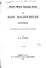La main malheureuse (French Edition) Raoul de Navery