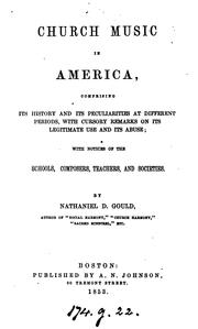Cover of: Church music in America by Nathaniel D. Gould