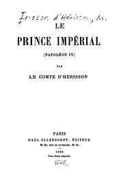 Cover of: Le prince impérial by Irisson d'Hérisson, Maurice comte d'