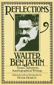 Cover of: Reflections by Walter Benjamin