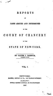 Cover of: Reports of cases argued and determined in the Court of chancery of the state of New York by New York (State). Court of Chancery.
