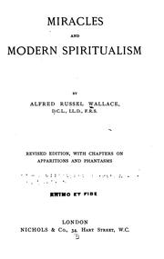 Cover of: On miracles and modern spiritualism by Alfred Russel Wallace