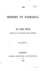 Cover of: The history of Tasmania by West, John