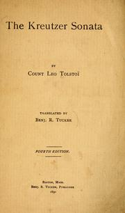 Cover of: Di ḳraytser sonaṭe by Leo Tolstoy