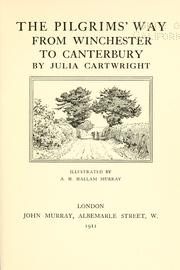 Cover of: The pilgrim&#39;s way from Winchester to Canterbury by Ady, Endre
