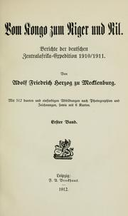 Cover of: Vom Kongo zum Niger und Nil by Adolf Friedrich Duke of Mecklenburg-Schwerin