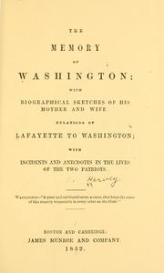 Cover of: The memory of Washington by Nathaniel Hervey