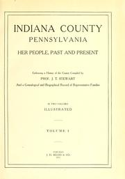 Cover of: Indiana County, Pennsylvania by Joshua Thompson Stewart