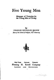 Cover of: Five young men by Brown, Charles Reynolds