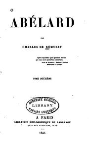 Cover of: Abélard by Charles de Rémusat