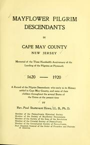 Cover of: Mayflower Pilgrim descendants in Cape May County, New Jersey by Paul Sturtevant Howe