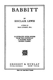 Cover of: Babbitt by Sinclair Lewis