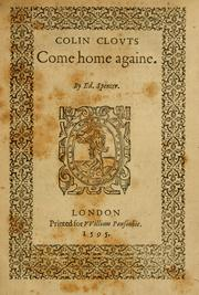 Cover of: Colin Clouts come home againe by Edmund Spenser