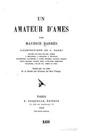 Cover of: Un amateur d'âmes by Maurice Barrès