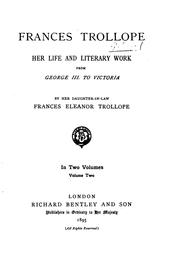 Cover of: Frances Trollope by Frances Eleanor Ternan Trollope