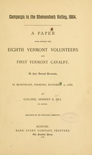 Cover of: Campaign in the Shenandoah Valley, 1864 by Herbert E. Hill