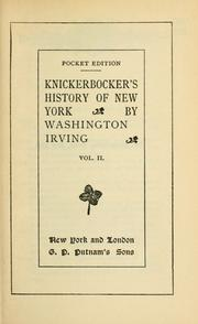 Cover of: A history of New York by Washington Irving