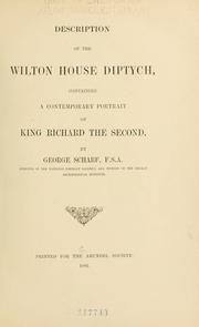 Cover of: Description of the Wilton House Diptych by Scharf, George Sir