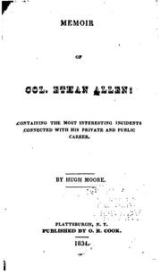 Cover of: Memoir of Col. Ethan Allen by Moore, Hugh.