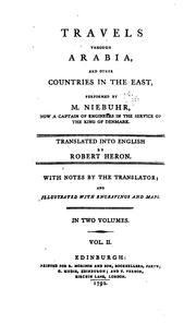 Cover of: Travels through Arabia, and other countries in the East by Carsten Niebuhr