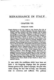 Cover of: Renaissance in Italy by Symonds, John Addington