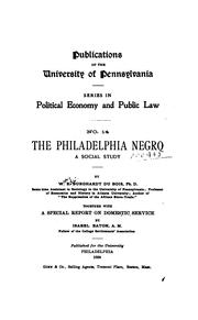Cover of: The Philadelphia Negro by Du Bois, W. E. B.