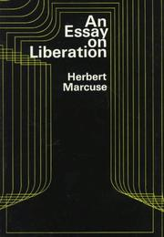 Cover of: An essay on liberation by Marcuse, Herbert
