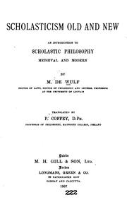 Cover of: Scholasticism old and new by M. de Wulf