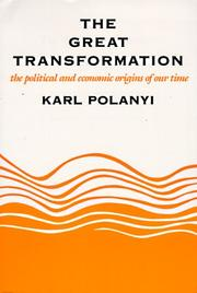 Cover of: The great transformation by Karl Polanyi