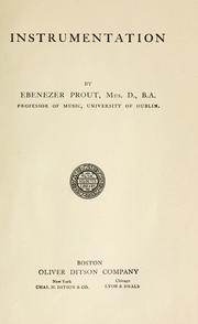 Cover of: Instrumentation by Ebenezer Prout