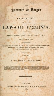 Cover of: Laws, etc by Virginia.