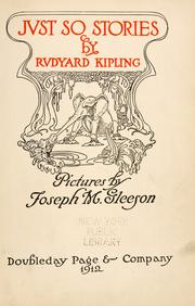 Cover of: Just so stories for little children by Rudyard Kipling
