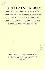 Cover of: Fountains Abbey by Hodges, George