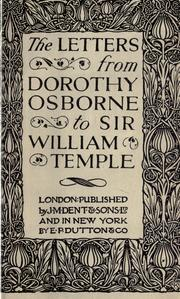 Cover of: Letters from Dorothy Osborne to Sir William Temple, 1652-54 by Dorothy Osborne
