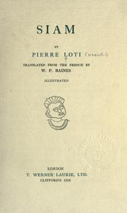 Cover of: Siam by Pierre Loti