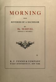 Cover of: Morning by Donald Grant Mitchell