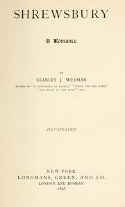 Cover of: Shrewsbury by Stanley J. Weyman
