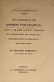 Cover of: The adventures of Gooroo Paramartan by Costantino Giuseppe Beschi