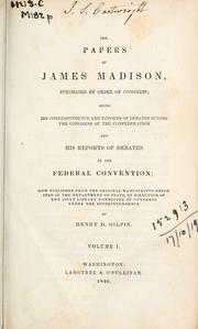 Cover of: Papers by James Madison